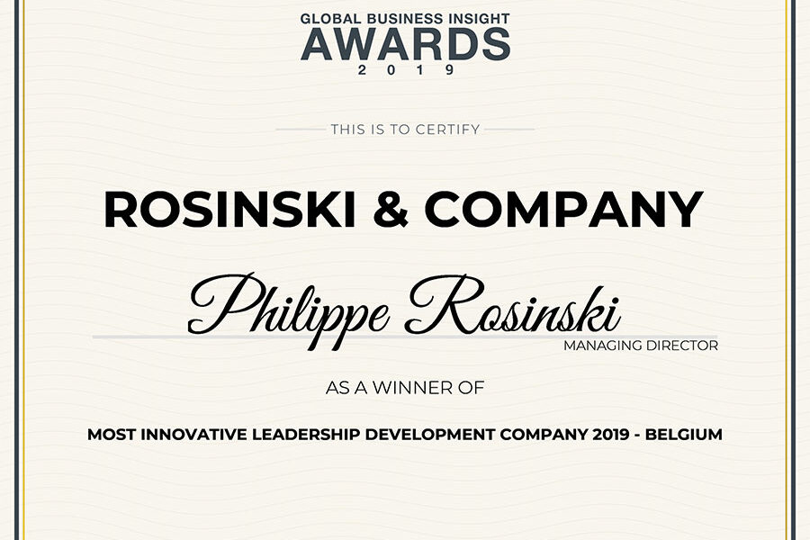 Most Innovative Leadership Development Company 2019 – Belgium
