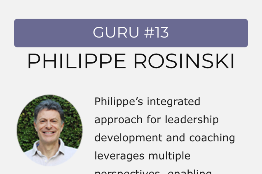 Philippe Rosinski in the Global Gurus Coaching Top 30 list